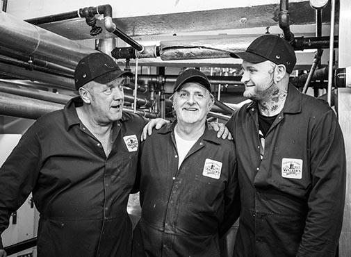 Walker's Nonsuch Factory boiler team