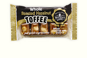 Hazelnut toffee 100g bar
