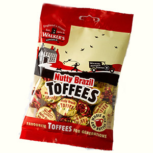 Nutty Brazil Toffees in a 150g bag