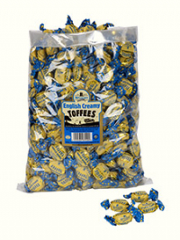 English Creamy Toffees in a 2.5kg bag.