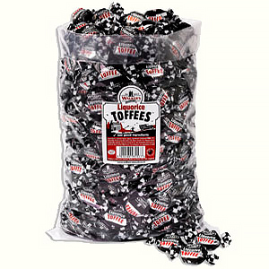 Liquorice Toffees in a 2.5kg bag.