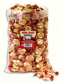 Nutty Brazil Toffees in a 2.5kg bag.