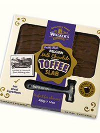 Belgian milk chocolate toffee slab