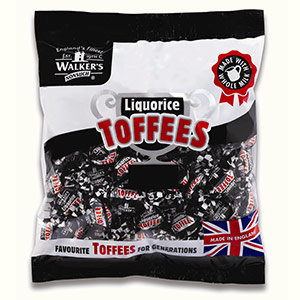 Liquorice Toffees in a 1kg bag.